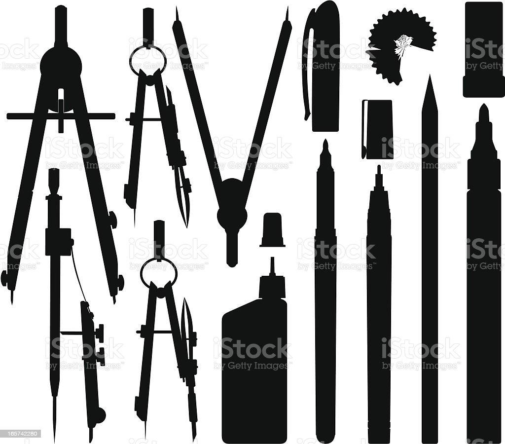Engineer tools vector art illustration