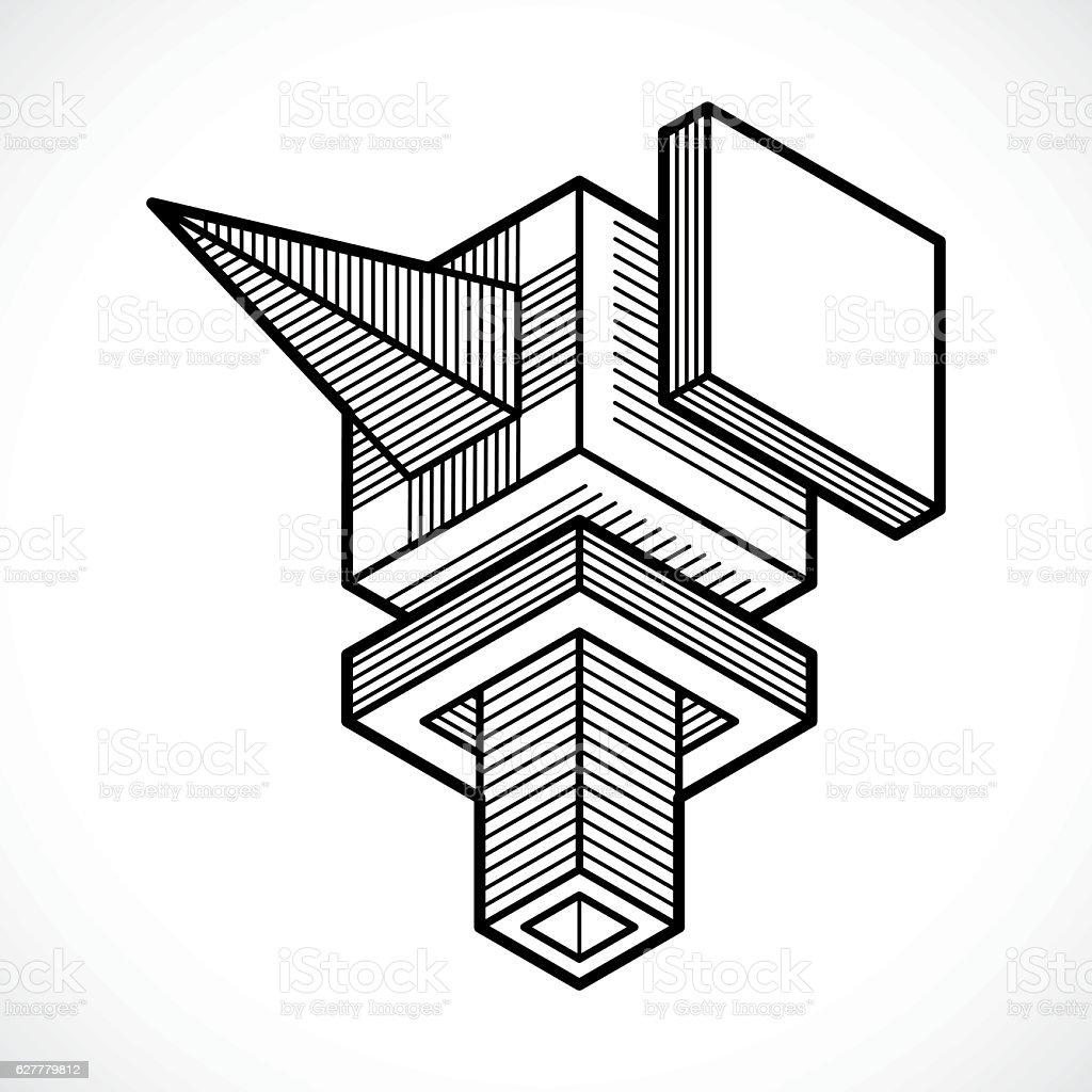 Engineering construction, abstract vector. vector art illustration