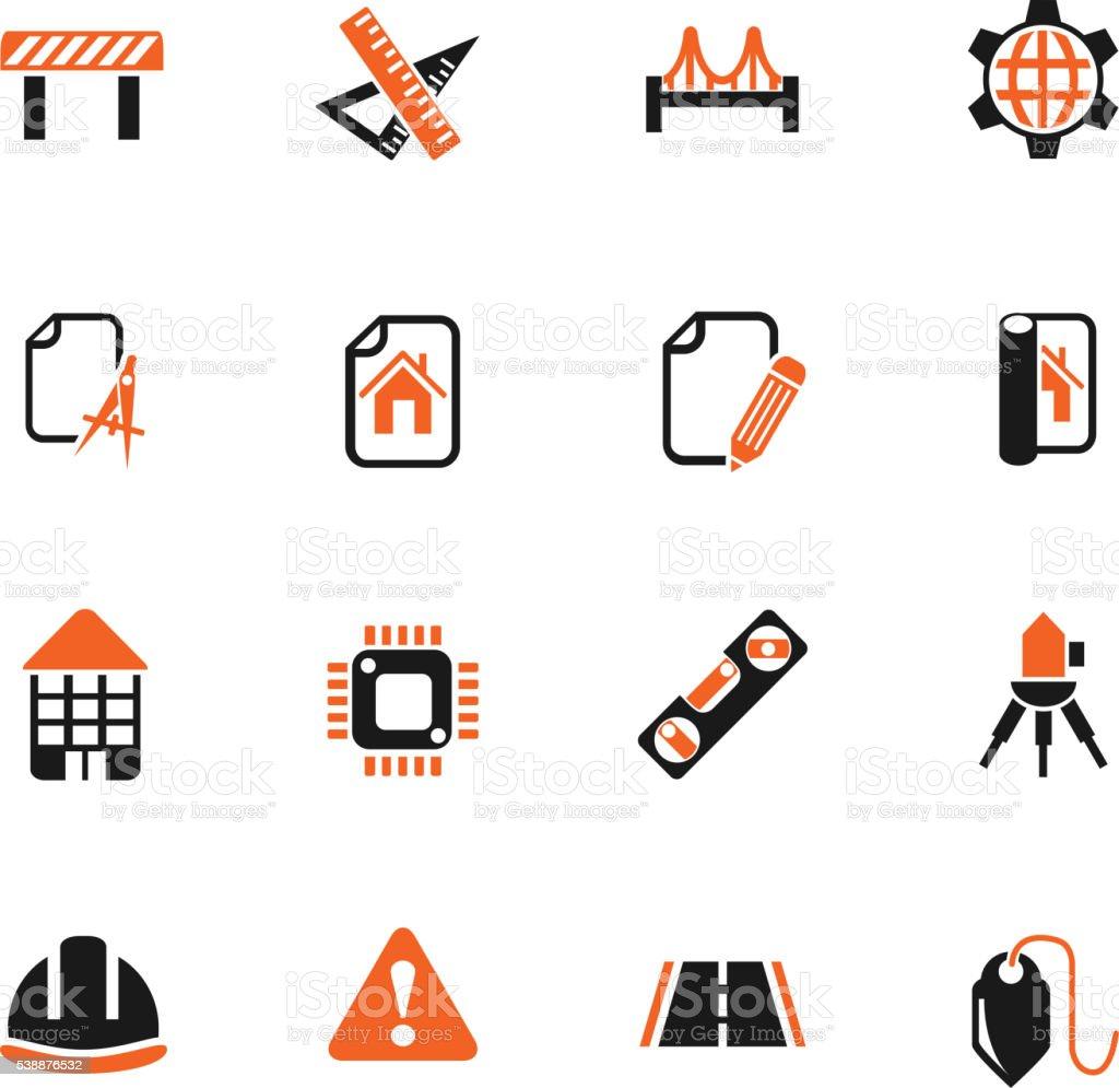 engineering icon set vector art illustration