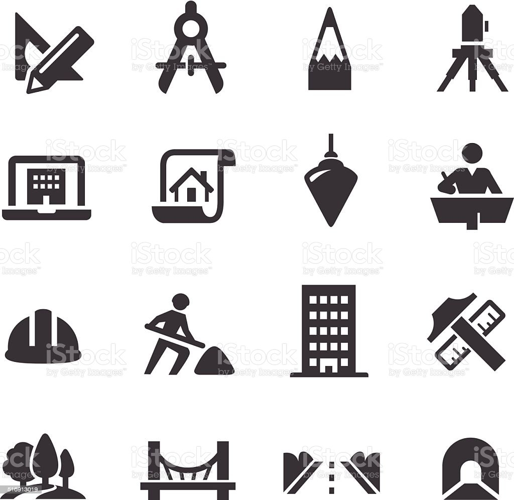 Engineering Icons - Acme Series vector art illustration