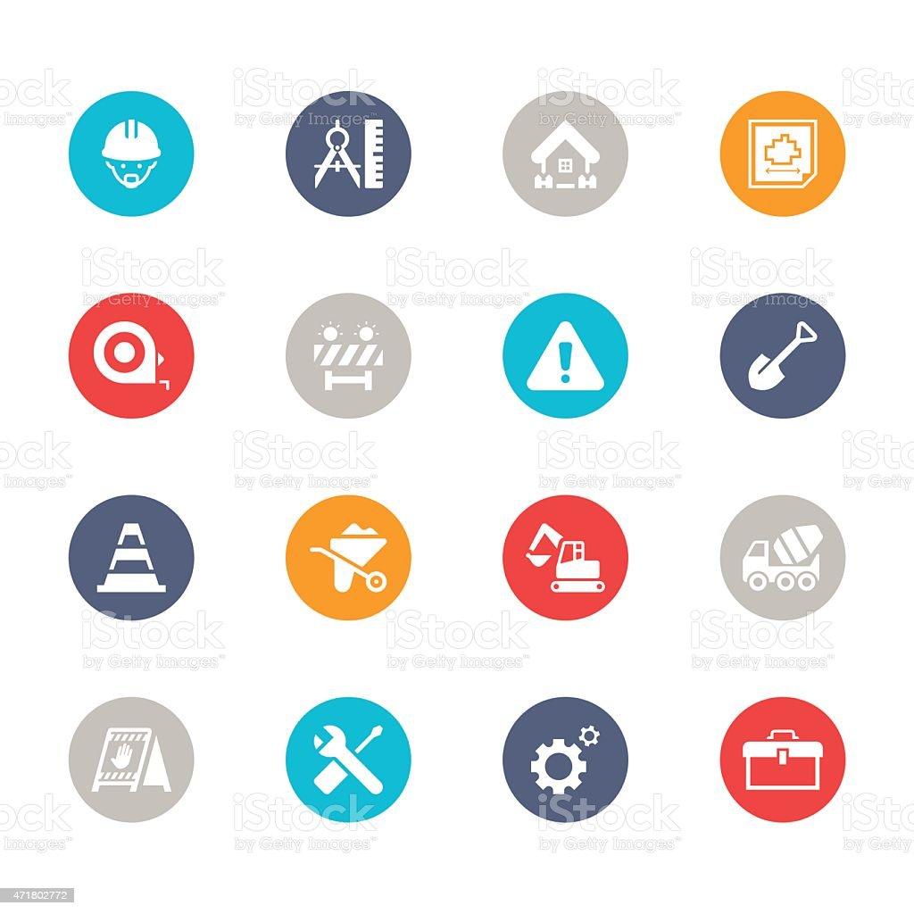 Engineering Icons | Multicolor Series vector art illustration