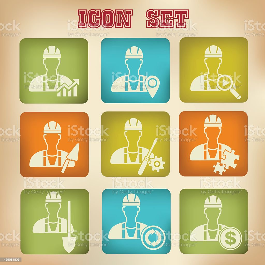 Engineering icons,vector royalty-free stock vector art