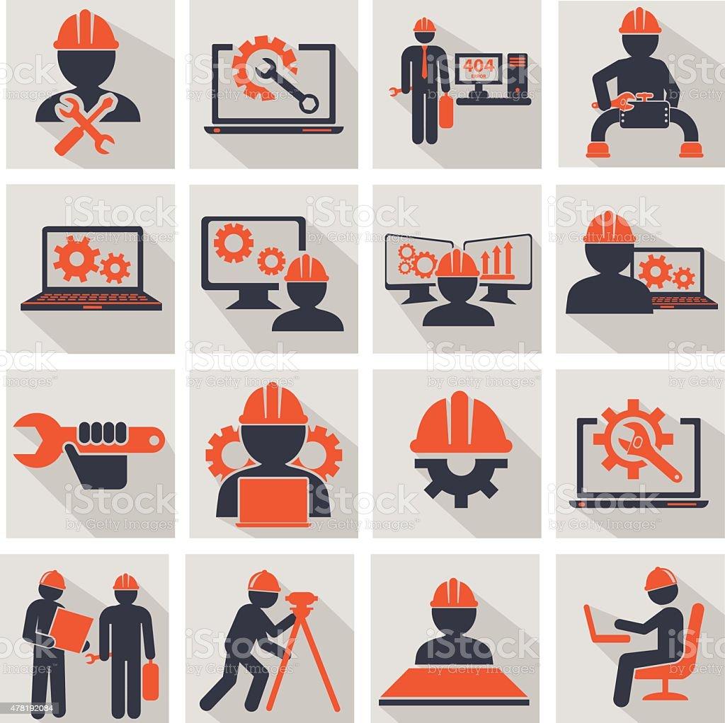 Engineering vector art illustration