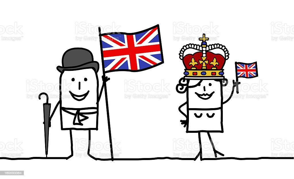 England & english people royalty-free stock vector art