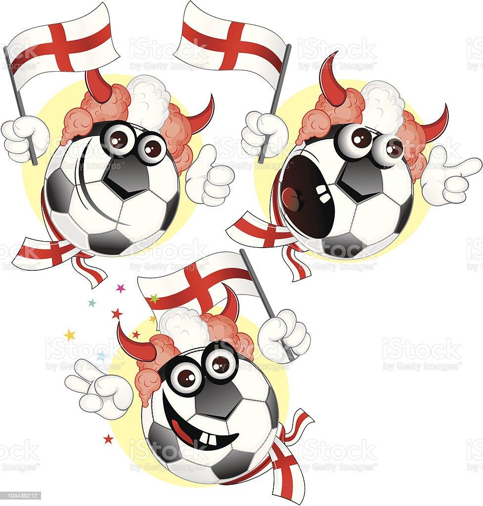 England cartoon ball royalty-free stock vector art