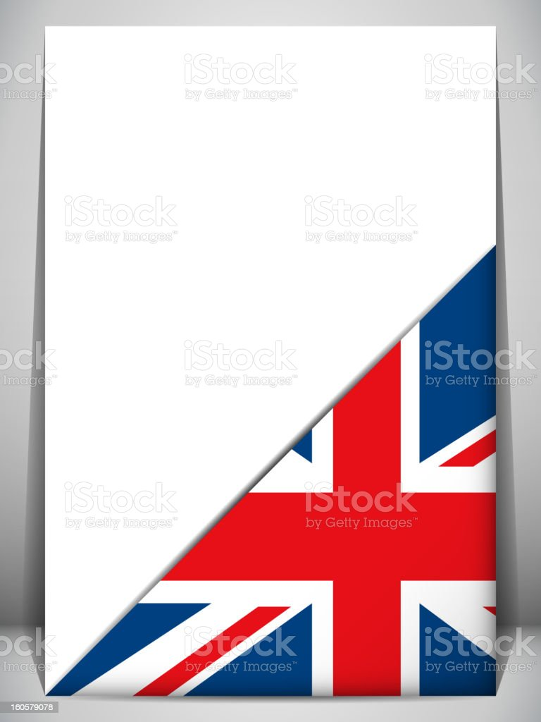 England Country Flag Turning Page royalty-free stock vector art