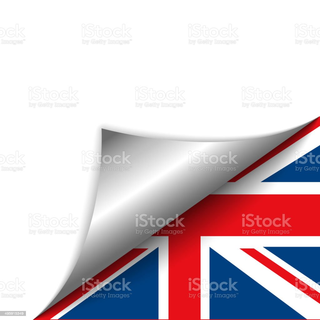 England Country Flag Turning Page vector art illustration