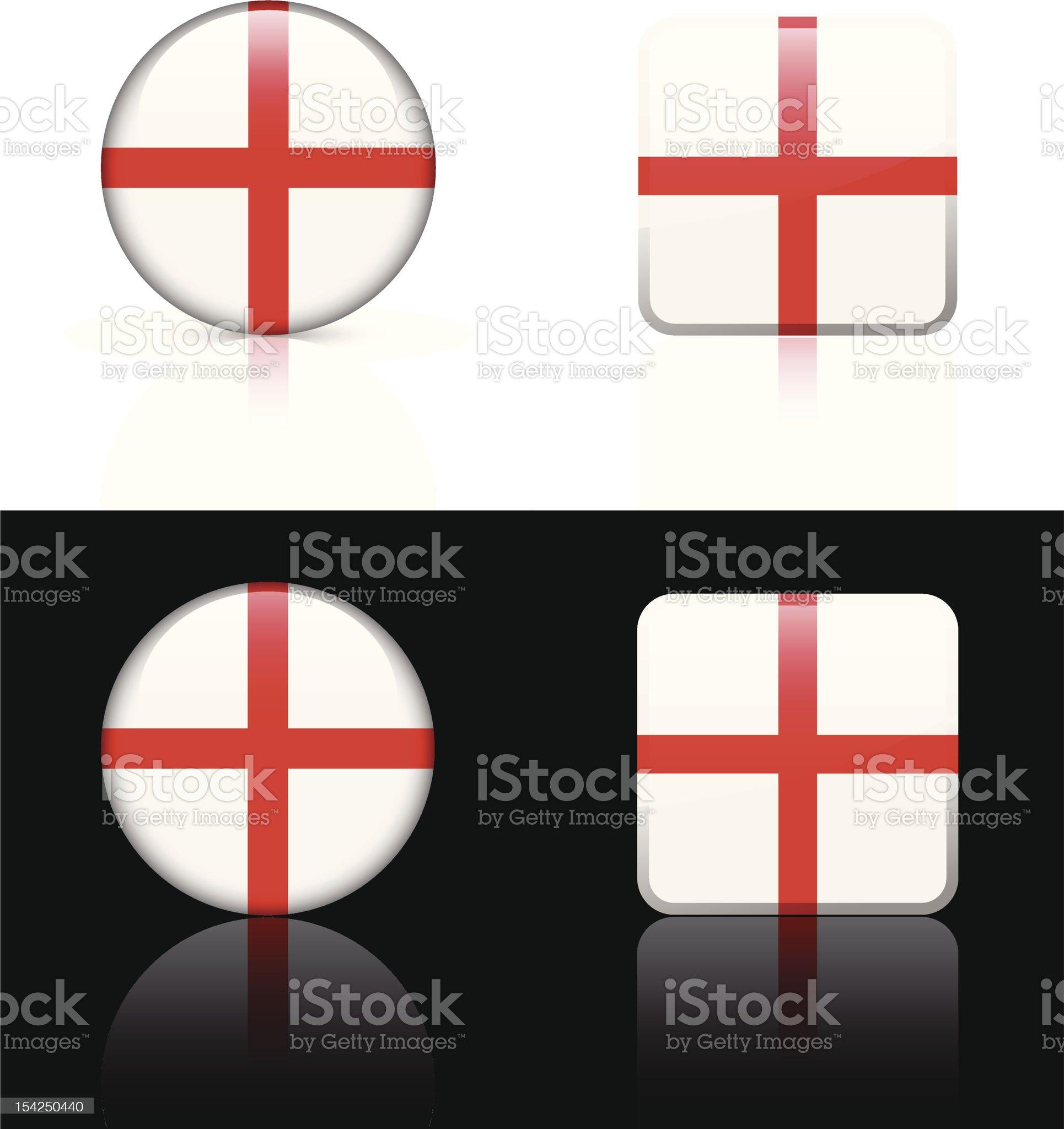 England Flag Button Set royalty-free stock vector art