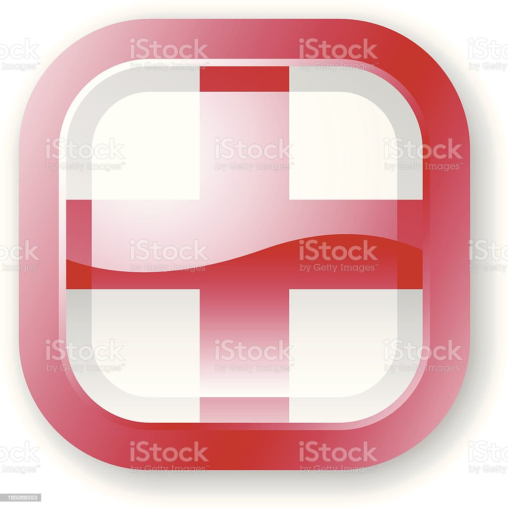 England Flag Icon royalty-free stock vector art