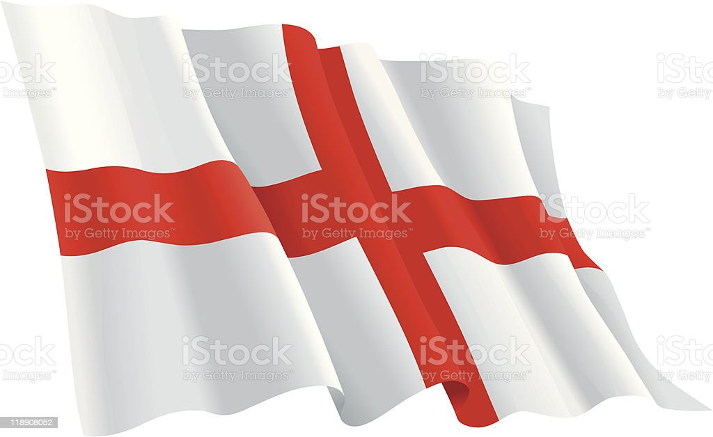 England Flag vector art illustration