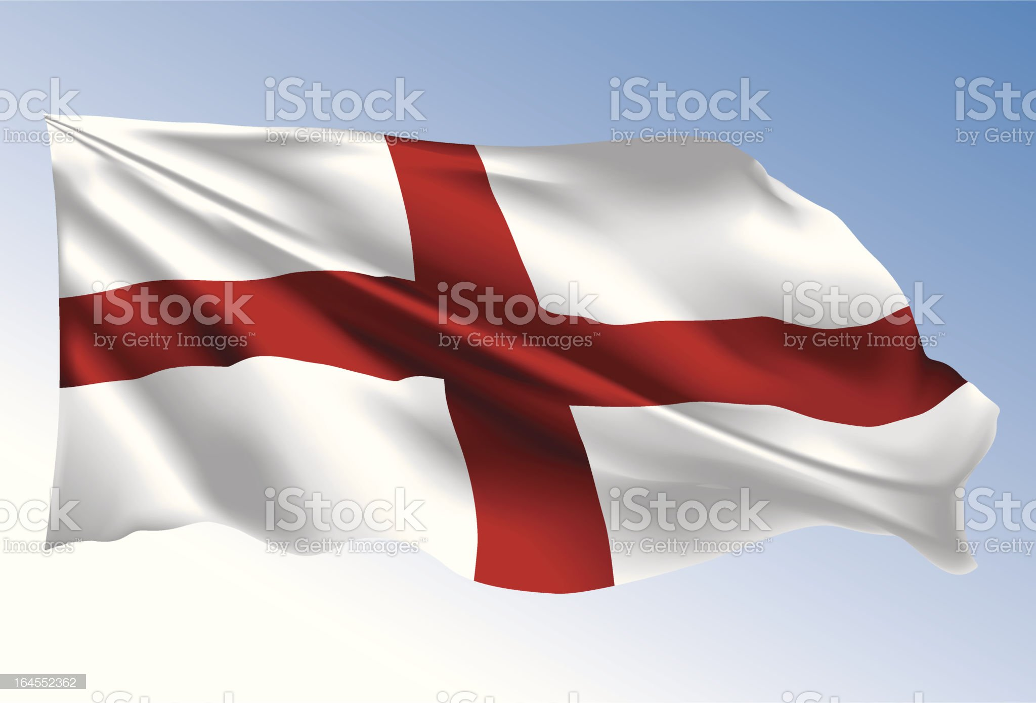 England Flag royalty-free stock vector art