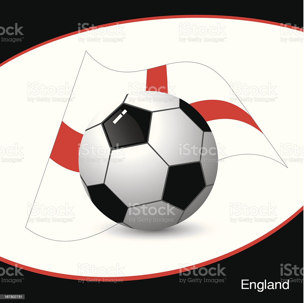 England football vector art illustration
