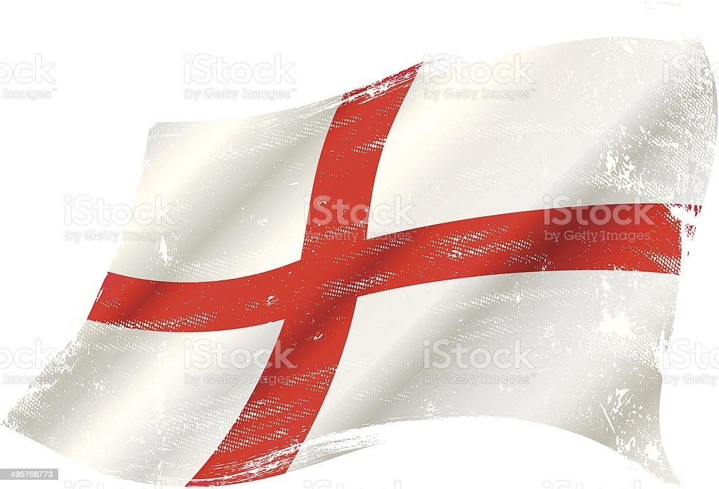 England grunge flag vector art illustration