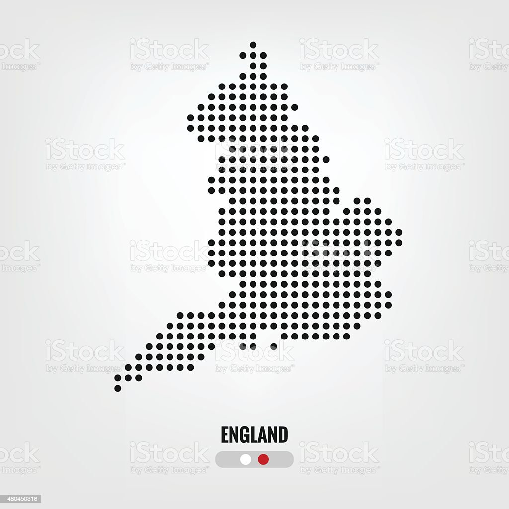 England map dot,vector eps10 vector art illustration