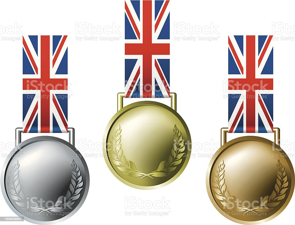 england olympic medals royalty-free stock vector art