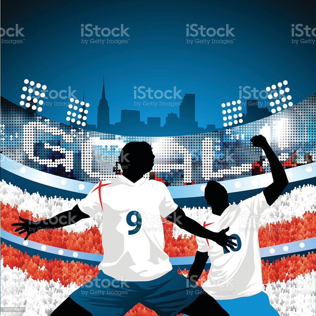 England scores a goal! royalty-free stock vector art