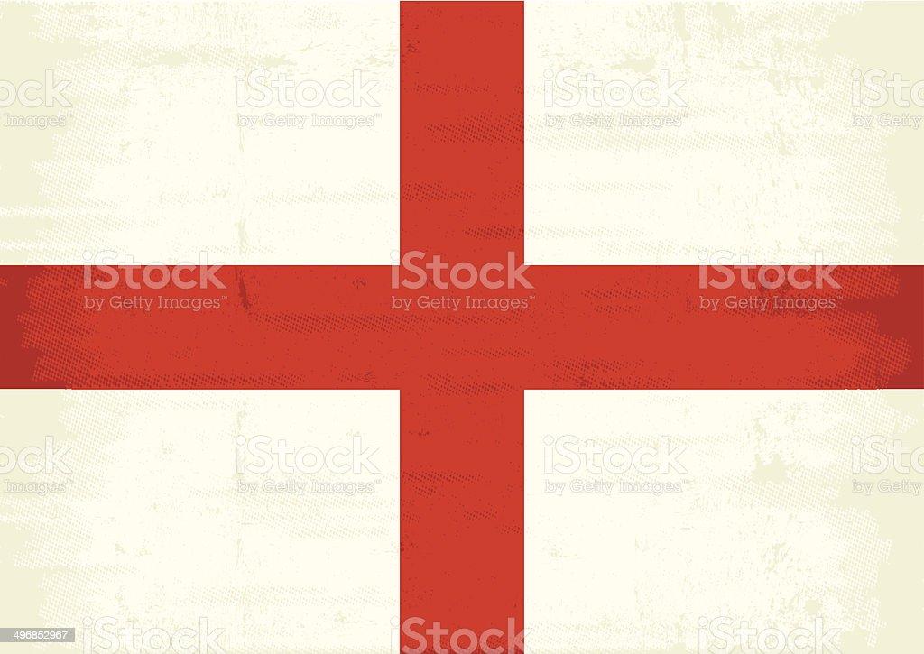 England scratched flag vector art illustration