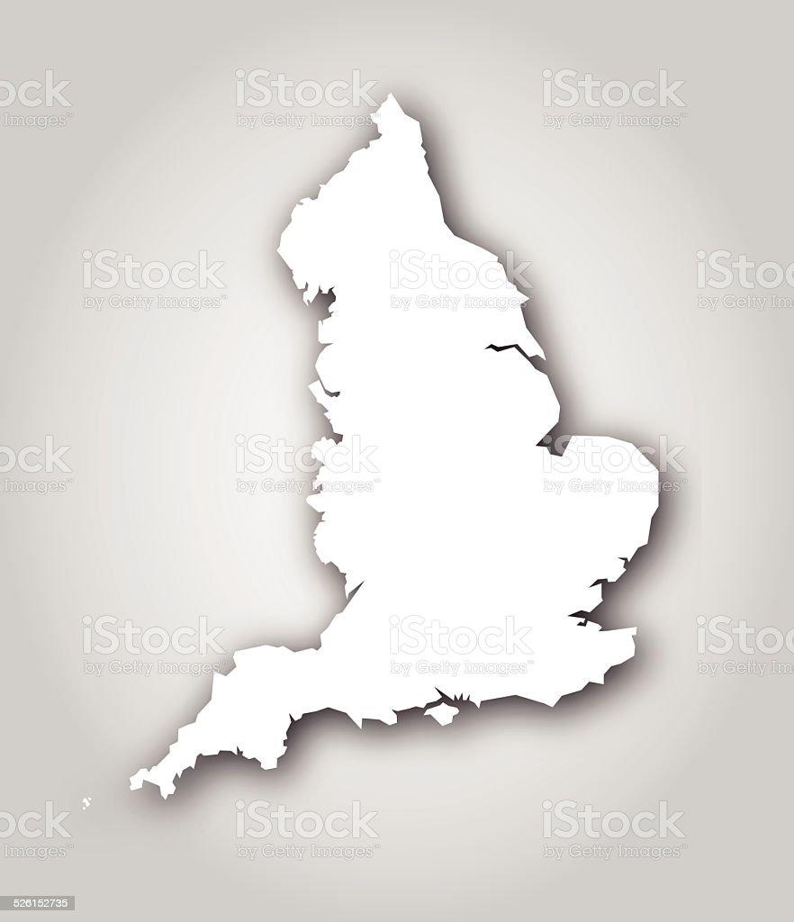 England Silhouette White vector art illustration