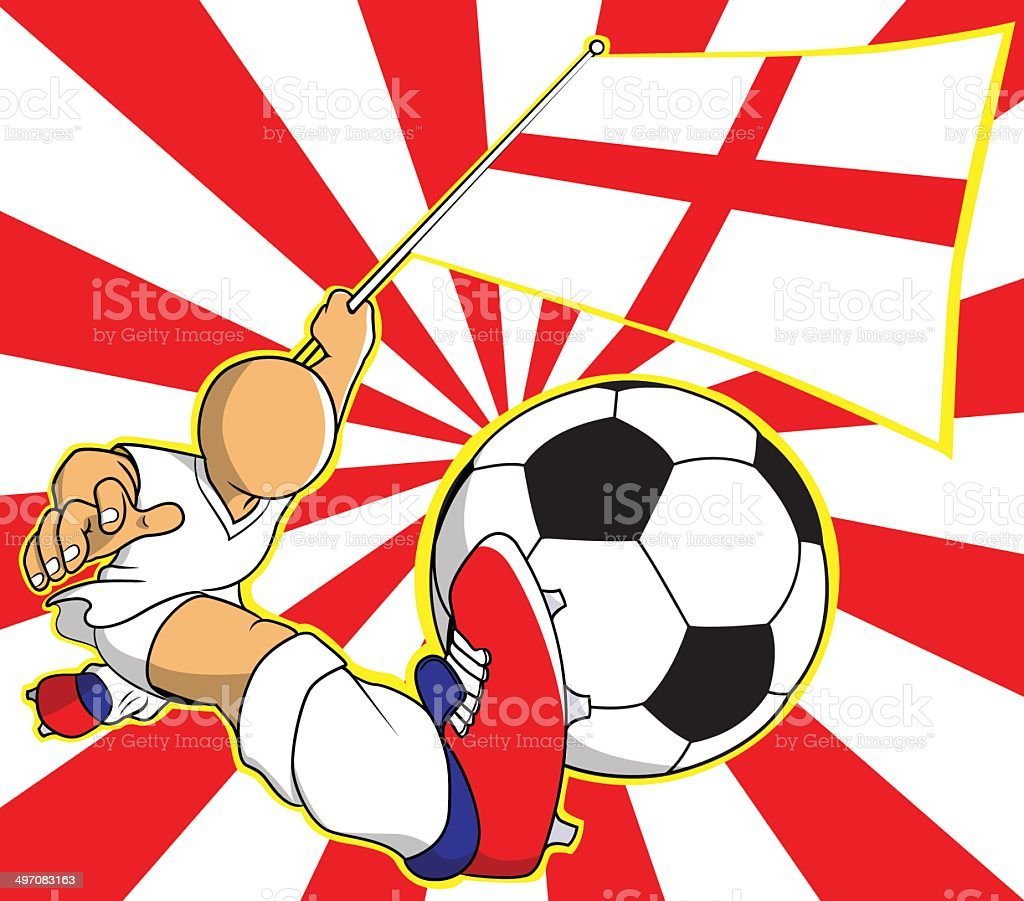 England soccer player vector cartoon royalty-free stock vector art