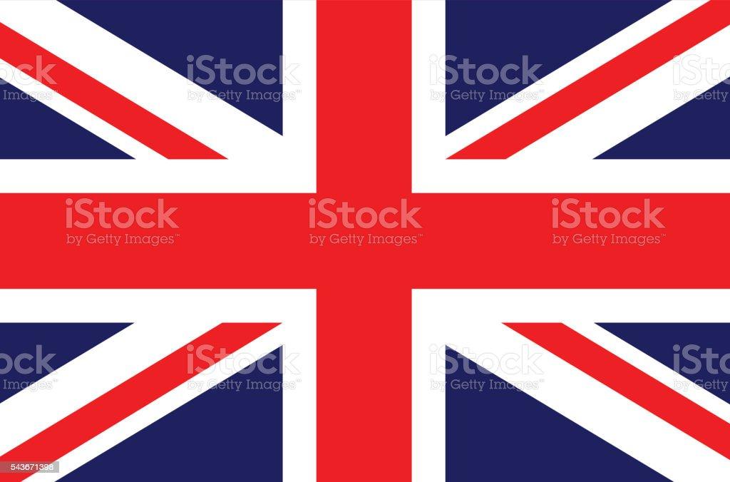 England UK British flag vector illustration vector art illustration