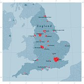 England Vector Road Map