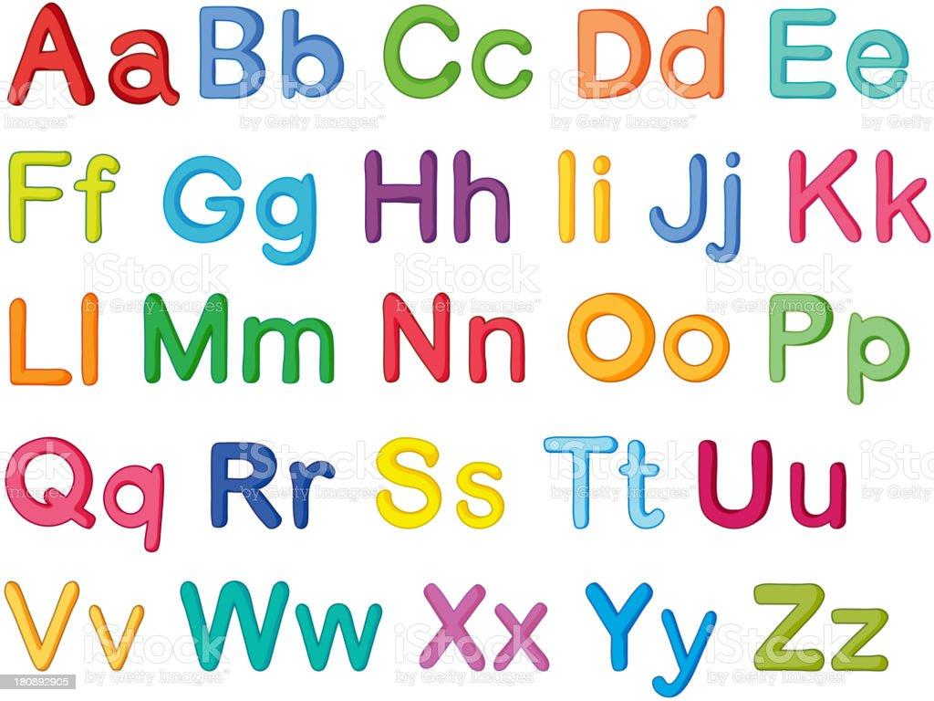 english alphabets royalty-free stock vector art