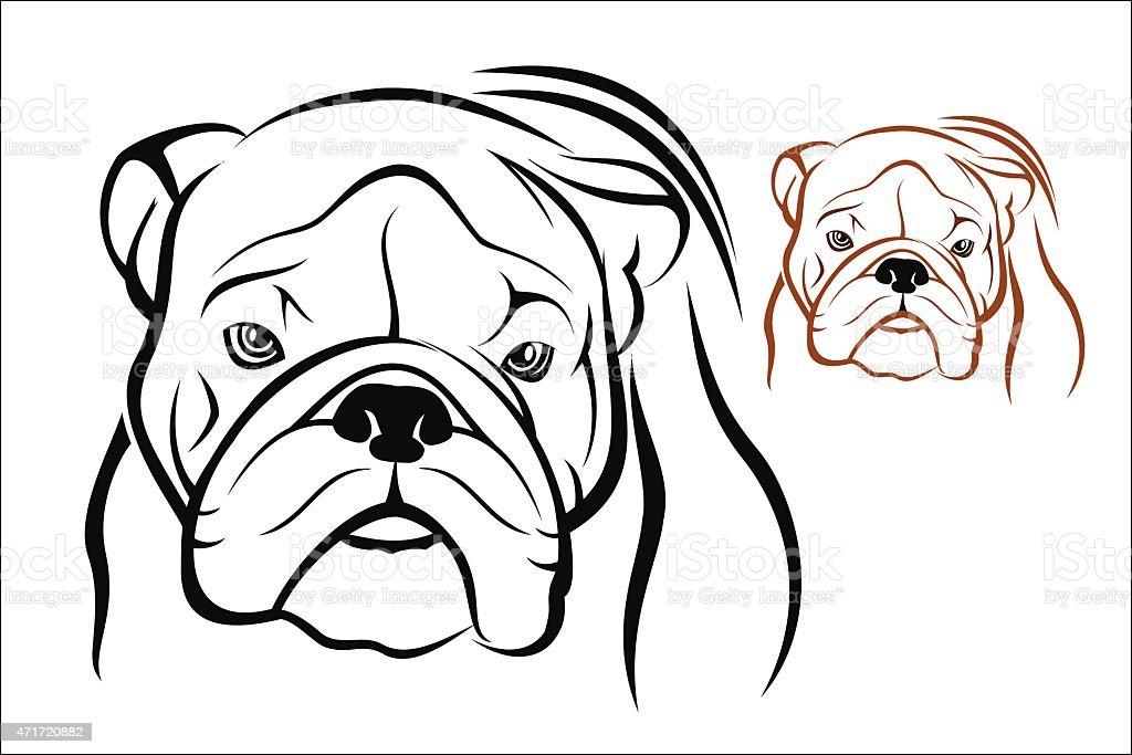 English Bulldog vector art illustration