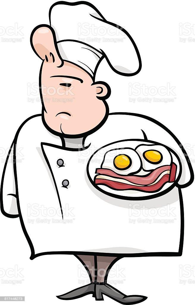 english chef cartoon illustration vector art illustration