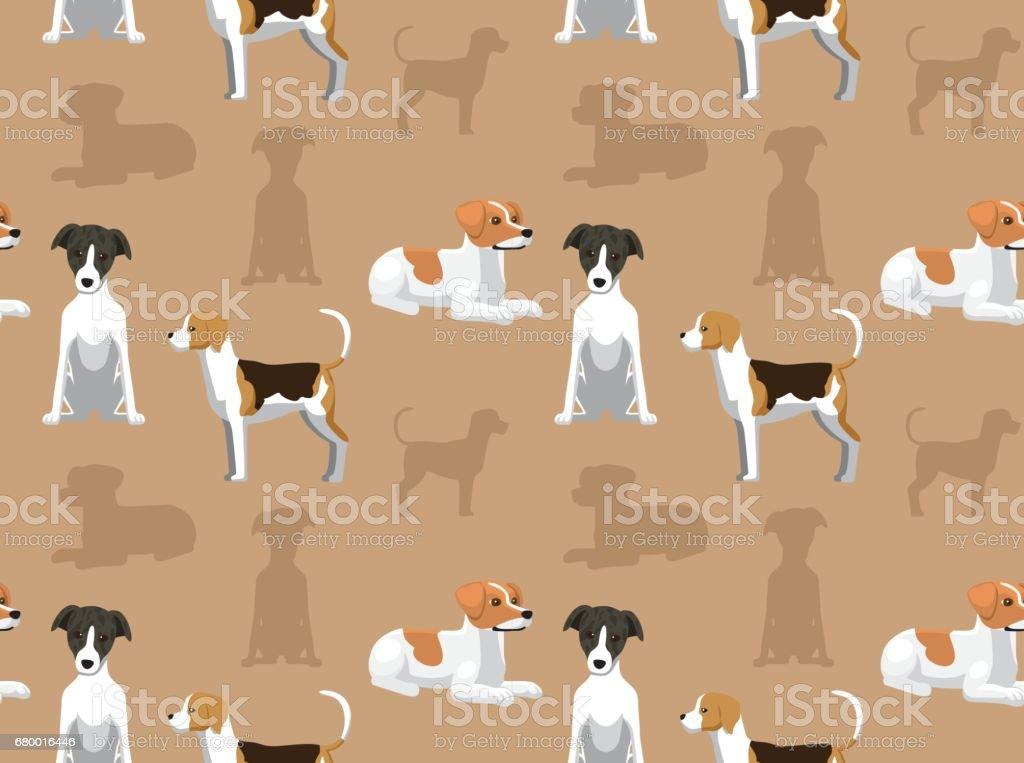 English Dog Wallpaper 3 vector art illustration