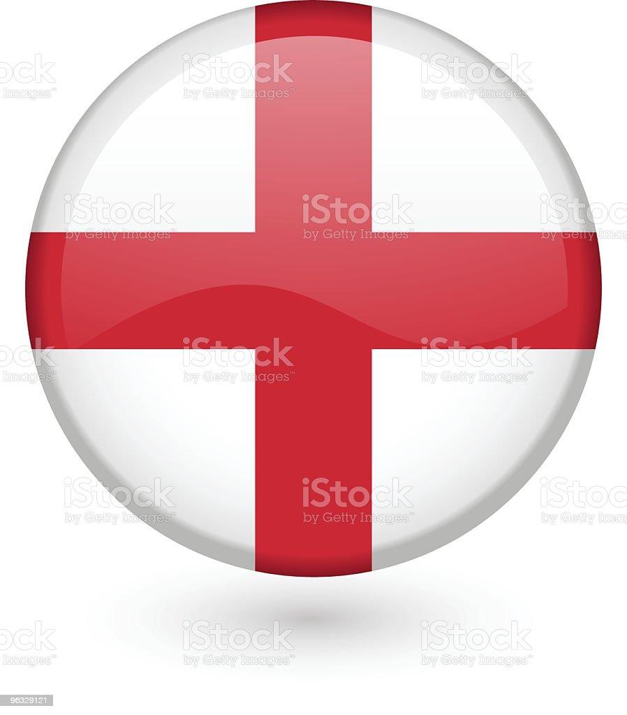 English flag button royalty-free stock vector art