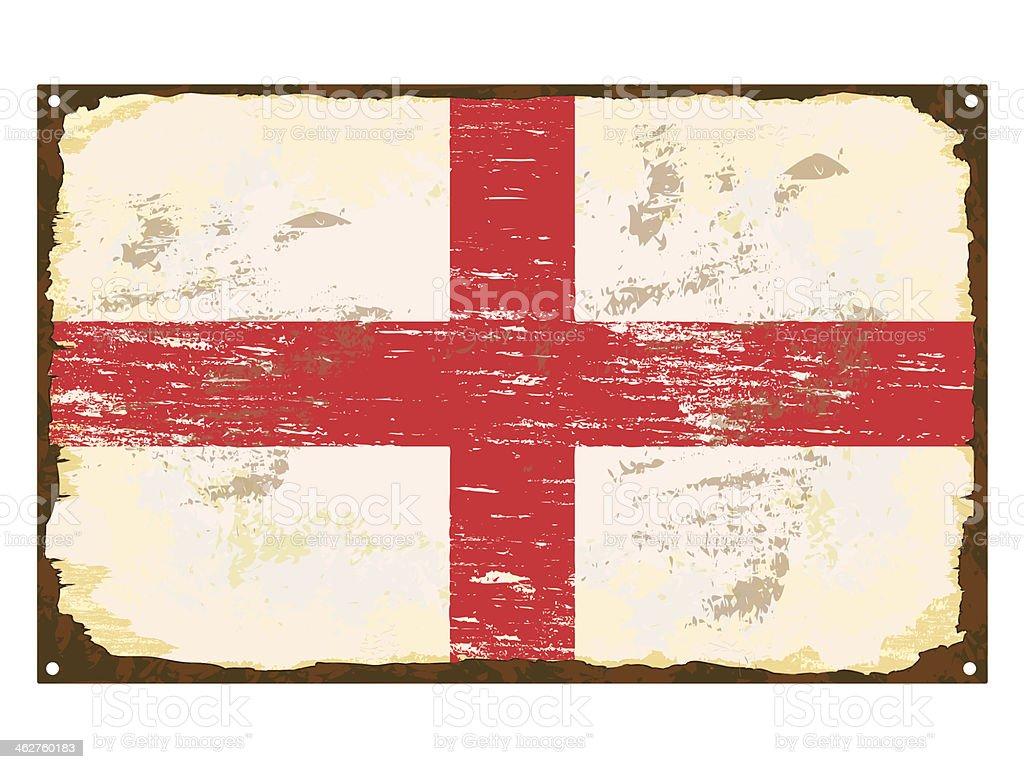 English Flag Enamel Sign vector art illustration