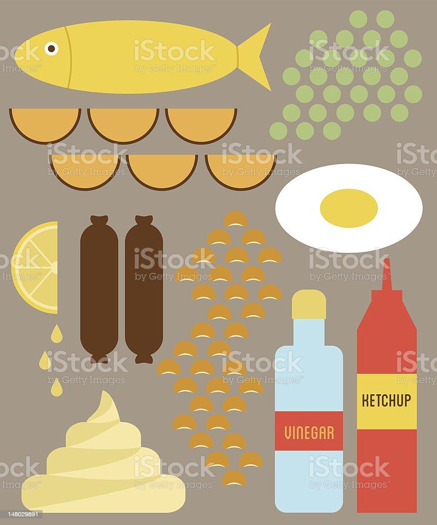 English food royalty-free stock vector art