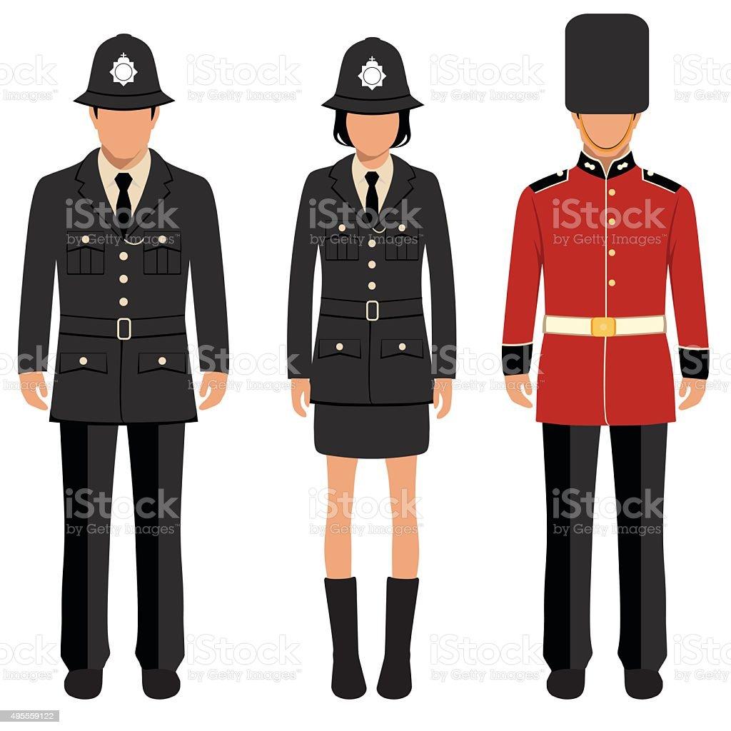 english people vector art illustration