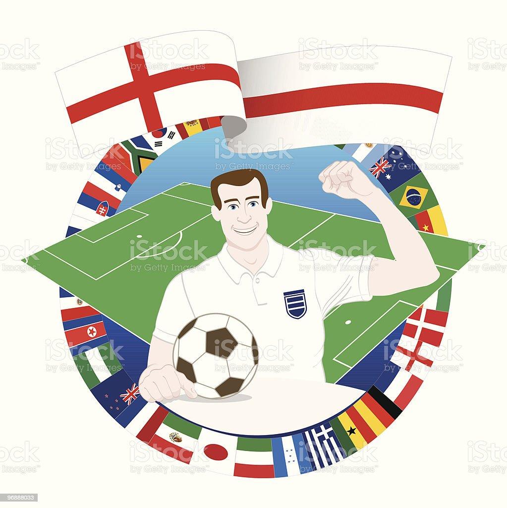 English Soccer Player royalty-free stock vector art