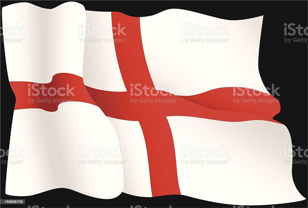 English St George Flag vector art illustration