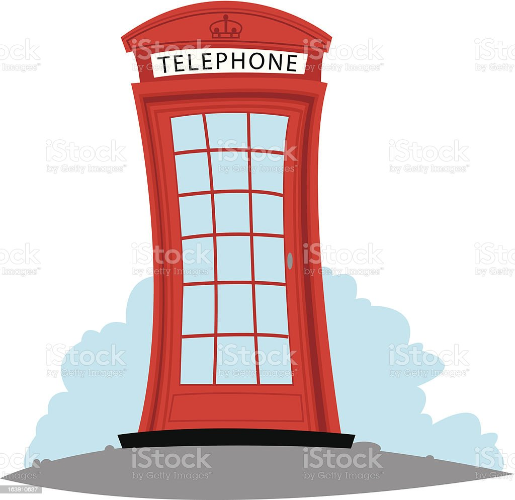 English Telephone royalty-free stock vector art