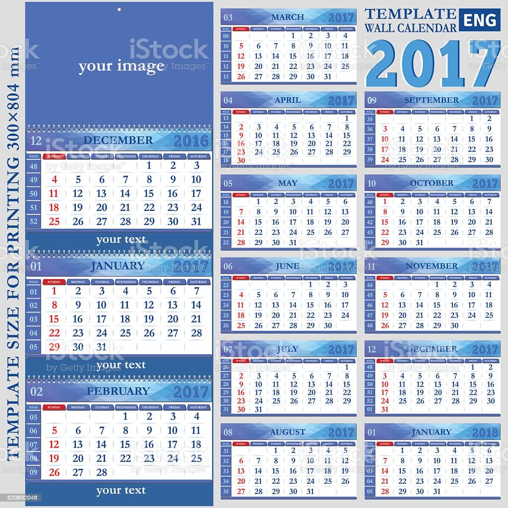 Quarterly Calendar Template Clip Art Vector Images
