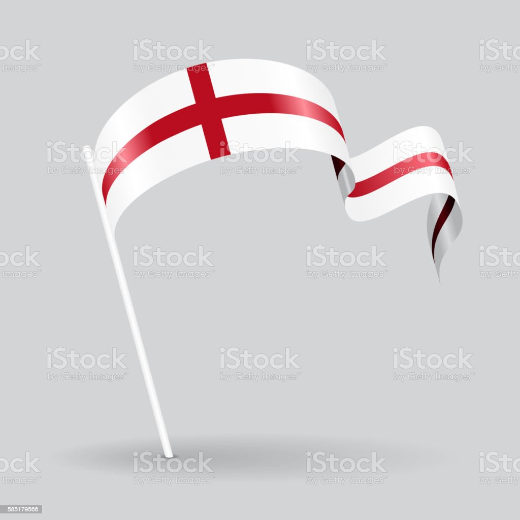 English wavy flag. Vector illustration. vector art illustration