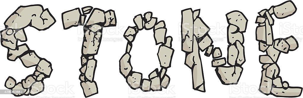 English Word Stone royalty-free stock vector art