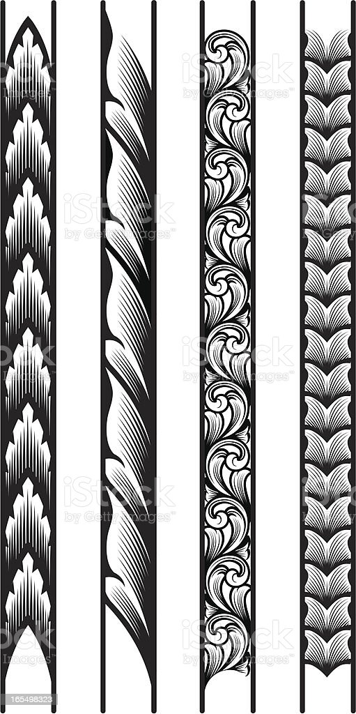 Engraved Borders vector art illustration