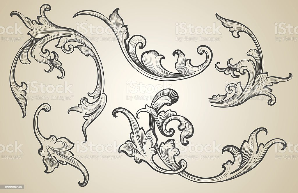 Engraving Set royalty-free stock vector art