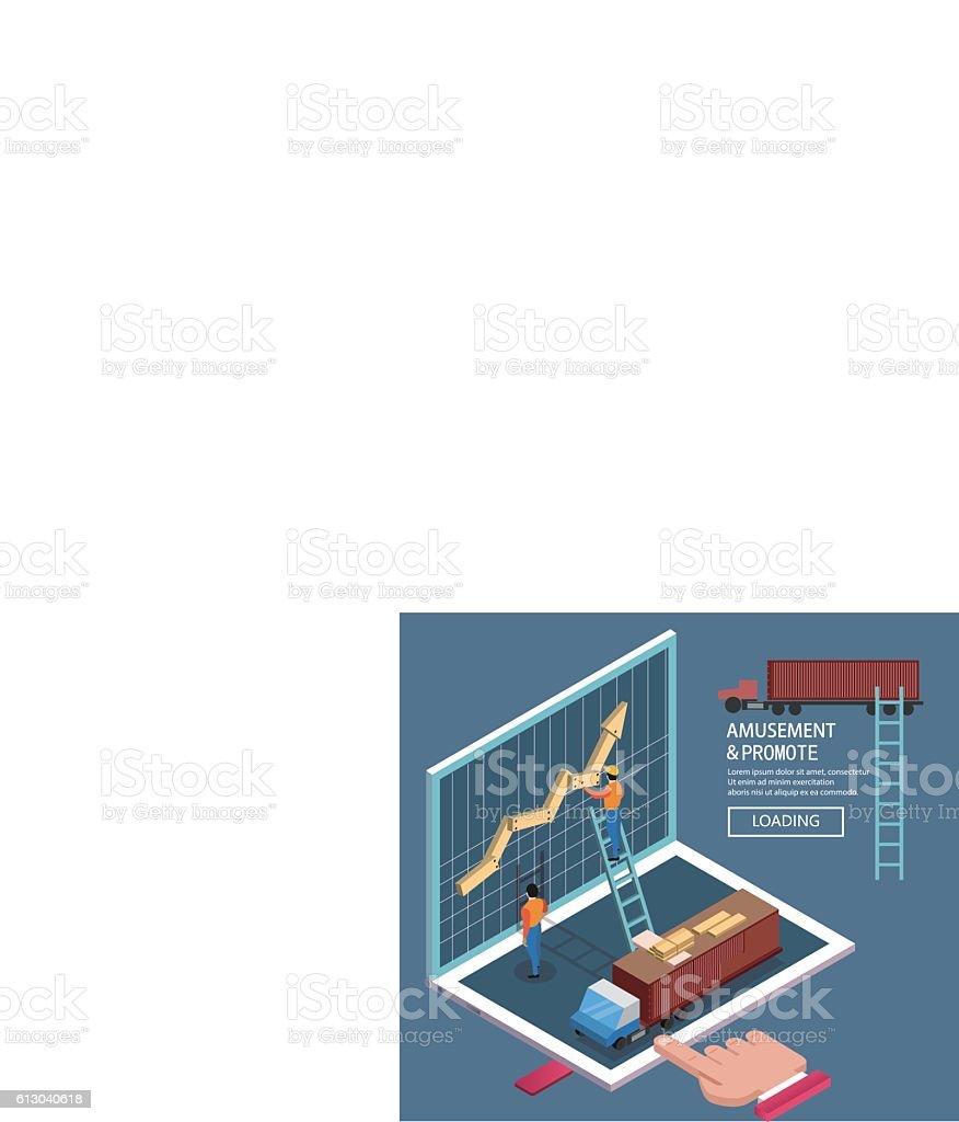 Enhance business vector art illustration