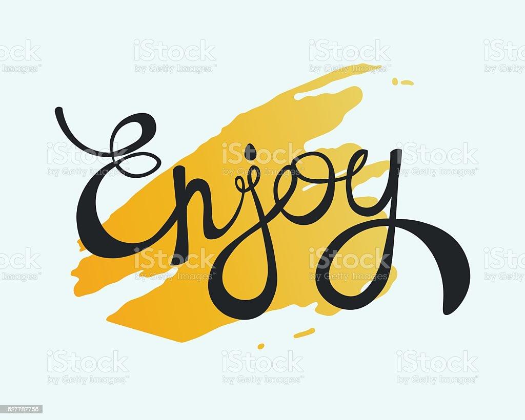 Enjoy Calligraphic Lettering vector art illustration