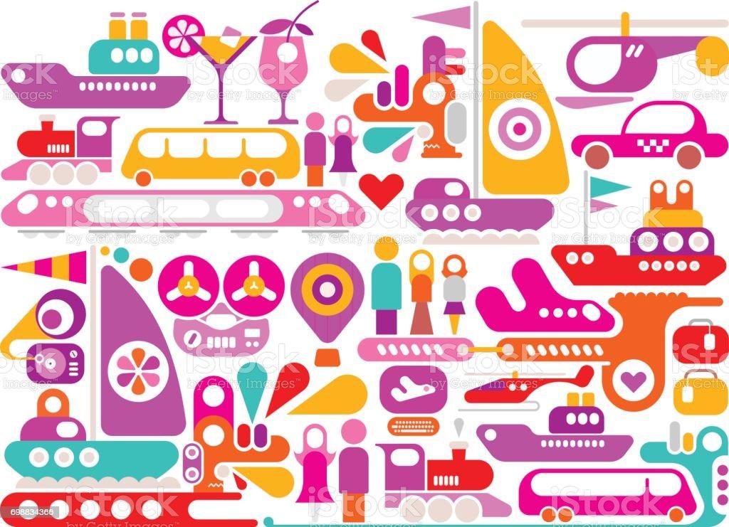 Enjoy Travel vector illustration vector art illustration