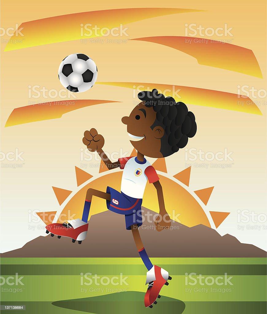 enjoying soccer royalty-free stock photo