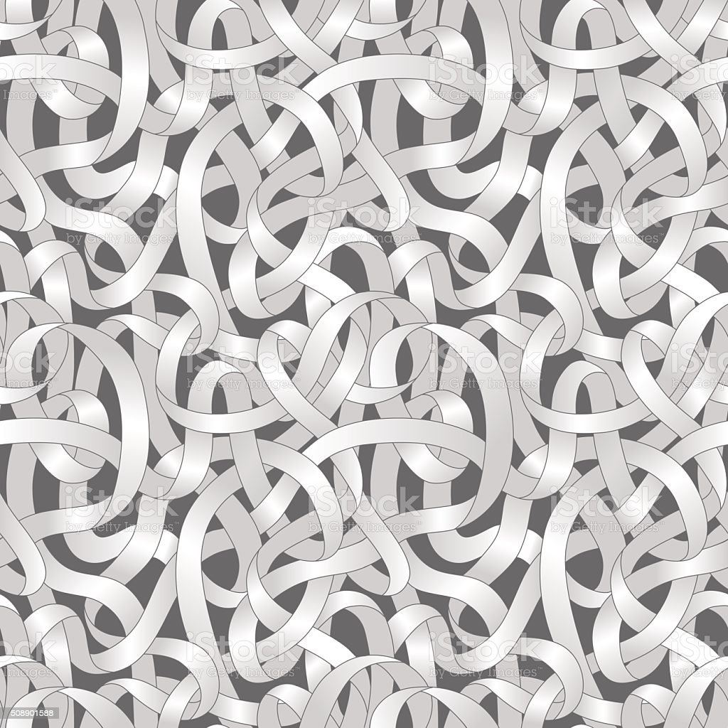 entangled paths seamless pattern. vector art illustration