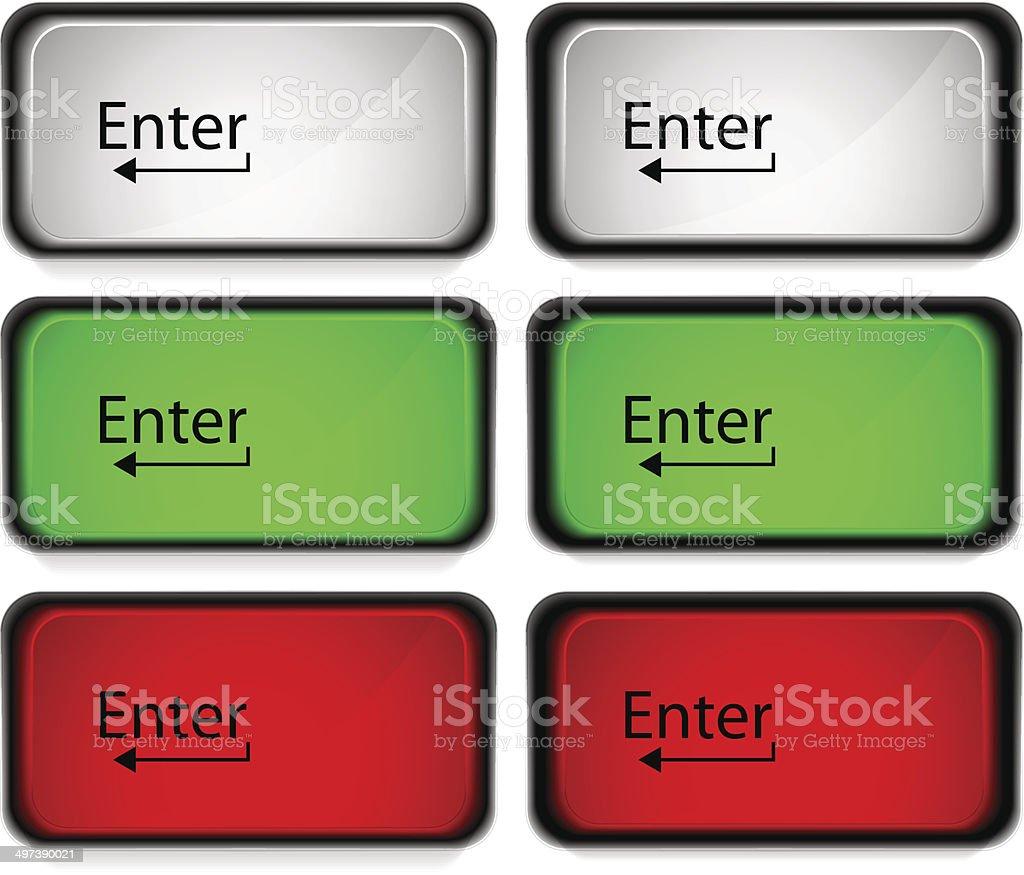enter button royalty-free stock vector art