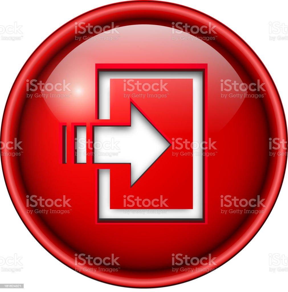 enter icon, button. royalty-free stock vector art