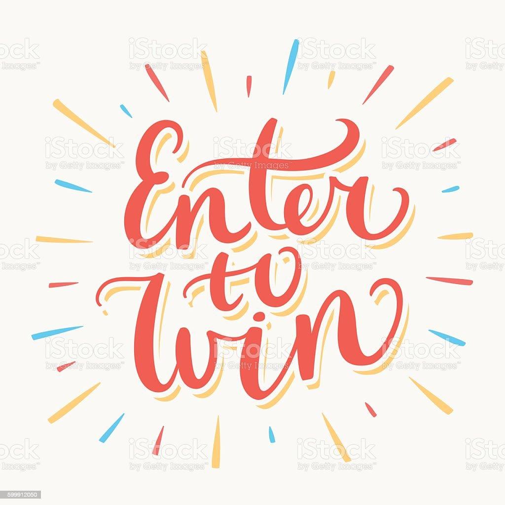 Enter to win banner. vector art illustration