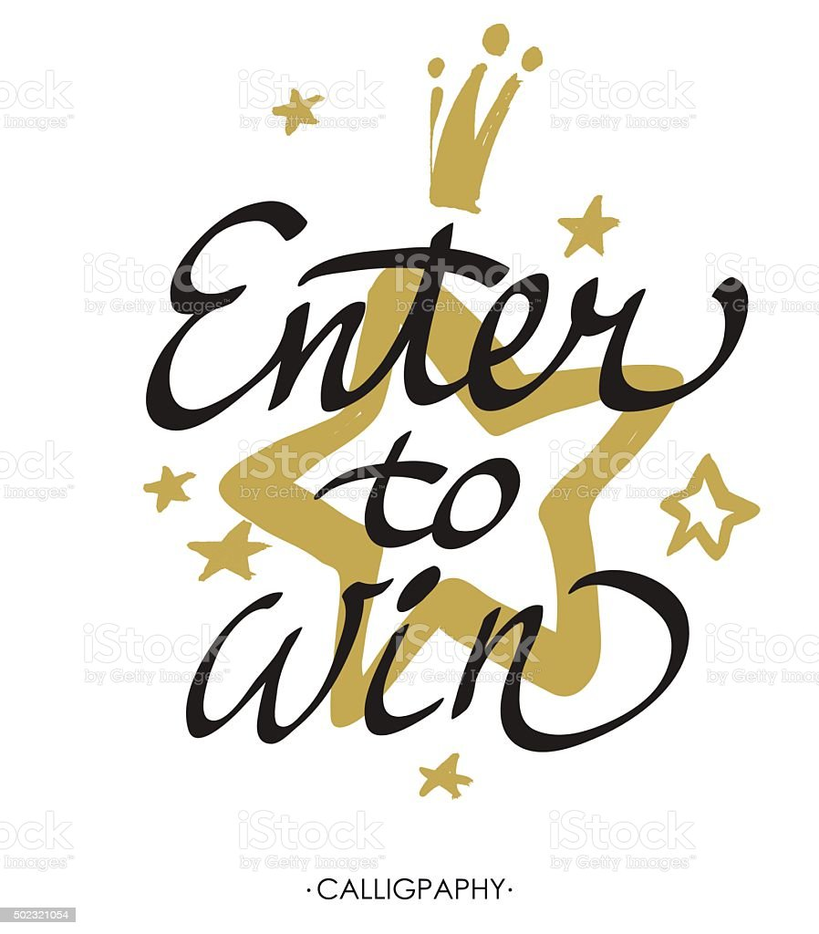Enter to win. Giveaway banner for social media contests. Vector. vector art illustration